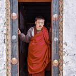 Fran Bastress - Monk in Bhutan Doorway - Class 3 Print of the Year